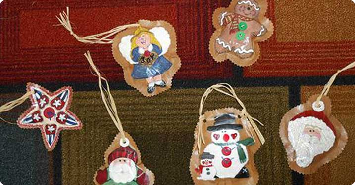 Hand Painted Paper Bag Ornaments